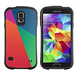 "Hypernova Slim Fit Dual Barniz Protector Caso Case Funda Para Samsung Galaxy S5 [Papel pintado azul Naranja Púrpura""]"