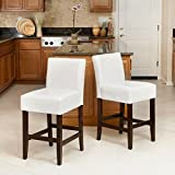 Christopher Knight Home Lowry 237522 Ivory Bonded Leather Counter Stools (Set of 2) For Sale