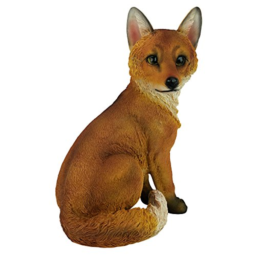 Design Toscano Woodie the Woodland Fox Garden Animal Statue, 14 Inch, Polyresin, Full Color ()