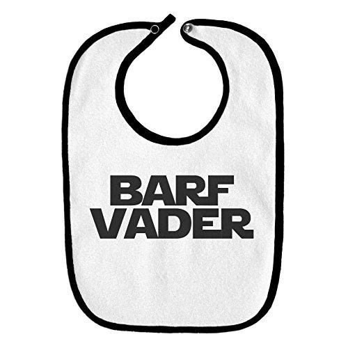 (Barf Vader Star Wars Funny Parody Infant Baby Bib - White with Black)