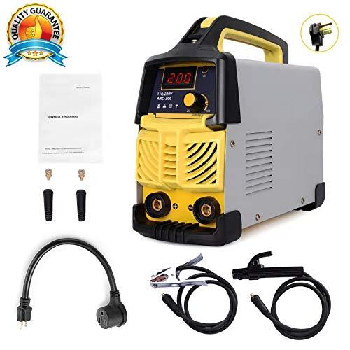 ARC Welding Machine, 200Amp Power, IGBT AC-DC Dual Voltage (110/220V) Beginner Welder Use Welding Rod Equipment Tools Accessories (Tig Welding Machine Ac Dc)
