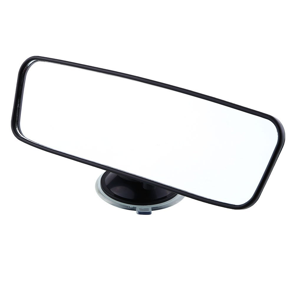 Sedeta 200mm Wide Flat Interior Blind Spot Mirror Rearview Rear View Mirror With Suction Car Care Truck