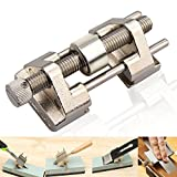 Honing Guide, BonyTek Stainless Steel Side Clamping Fixed Angle Honing Guide with Roller for Wood Chisel, Planer, Blade, Flat Chisel Edge Sharpening, Clamping Width 0.2-3.2'' (Stainless Steel Roller)