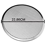 1 piece Aluminium Pizza Flat Mesh 6/8/9/10 Inch Baking Pizza Dishes Network Tray Thickening Pizza Mesh Kitchen Baking Tool LPN0533