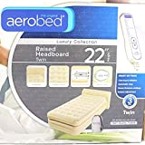 The Original Aerobed Raised Headboard Twin Air Bed with Built-in Pump