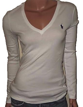 4463ca329 Amazon.com: Polo Ralph Lauren Womens Perfect V Neck T-Shirt: Clothing