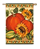 Evergreen Flag & Garden 13A3481 Satin Sunflower and Harvest House Flag, 29″ x 43″