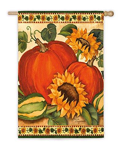 Evergreen Flag & Garden 13A3481 Satin Sunflower and Harvest House Flag, 29