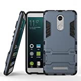 Shockproof with Kickstand Feature Case for Xiaomi Redmi Note 3 / Redmi Note 3 Pro (5.5 inch) Hybrid Dual Layer Armor Defender Protective Cover (Blue Black)
