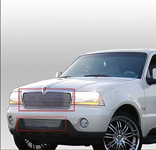 ZMAUTOPARTS For Lincoln Navigator Front Upper Bumper Billet Grille Grill Insert Combo