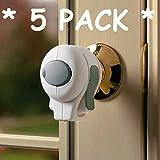 KidCo Door Knob Lock - White, 5 Pack