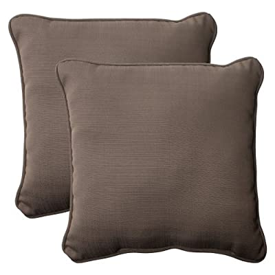 Pillow Perfect Outdoor Forsyth Corded Throw Pillow, 18.5-Inch, Taupe, Set of 2 - Includes two (2) outdoor pillows, resists weather and fading in sunlight; Suitable for indoor and outdoor use Plush Fill - 100-percent polyester fiber filling Edges of outdoor pillows are trimmed with matching fabric and cord to sit perfectly on your outdoor patio furniture - living-room-soft-furnishings, living-room, decorative-pillows - 51 6MJYcd5L. SS400  -
