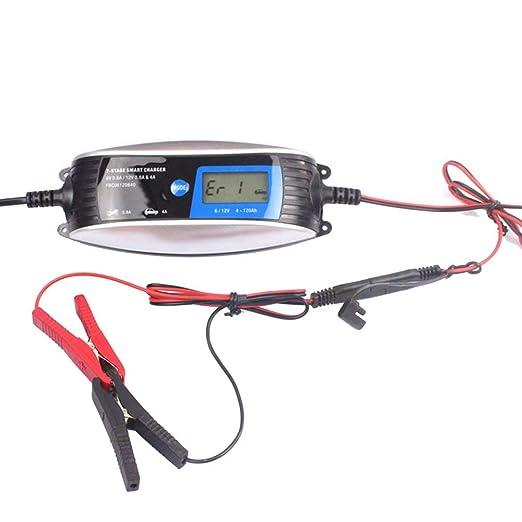 CHOULI 6V 12V 0.8A 4A Cargador de batería para Coche de ...