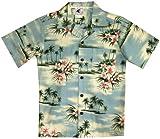 RJC Boys Plumeria Island Shirt in Blue - 2