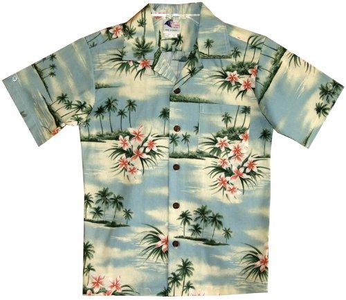 RJC Boys Plumeria Island Shirt in Blue - 2 by RJC