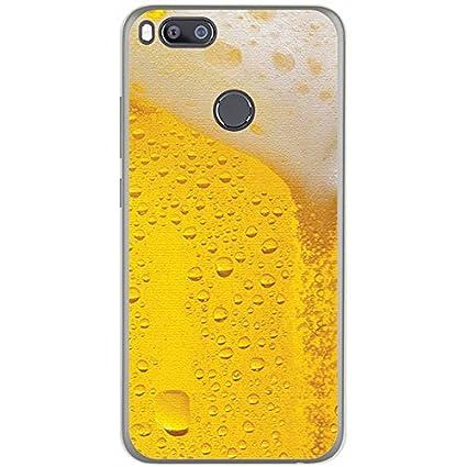Tumundosmartphone Funda Gel TPU para XIAOMI MI 5X/MI A1 diseño Cerveza Dibujos