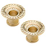 Steel Navel Body Jewelry Pair of Gold Plated Double Flared Black Hole Eyelets: 7/8''