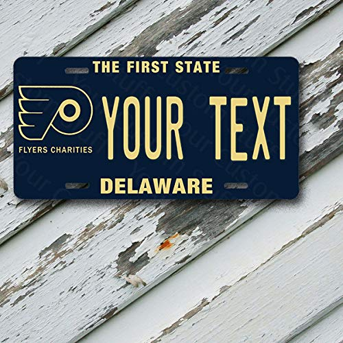 License Plate Delaware Wave 2 The First State Customizable 6 x 12 Aluminum Vanity License Plate
