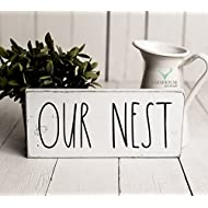 Rustic Our Nest Sign   Rustic Wood Sign   Farmhouse Sign   Inspired Rae Dunn Sign   Rustic Home Decor   Farmhouse Home Decor   French Farmhouse Decor   Shabby Chic Decor   Primitive Decor