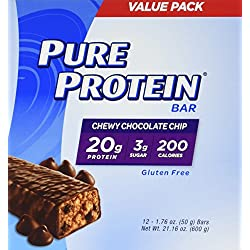 Pure Protein Chewy Chocolate Chip Bar, 12 Count