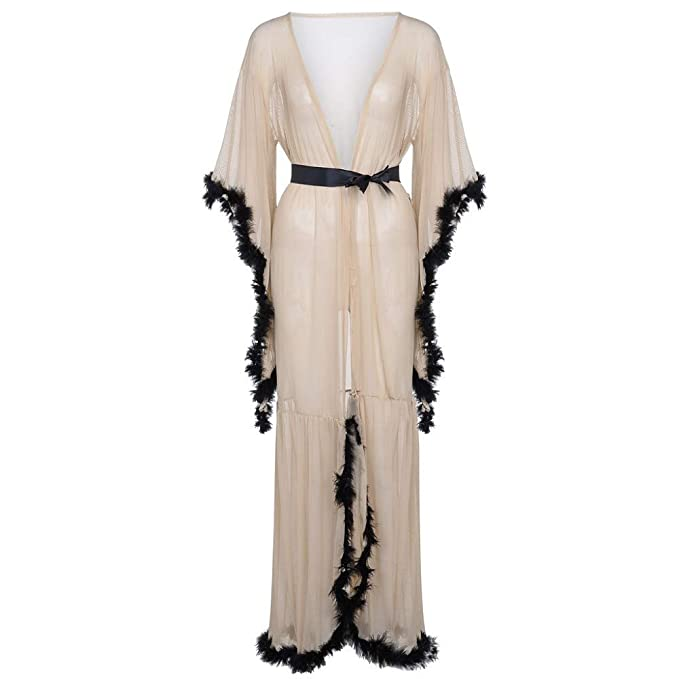 Kimono Mujer Batas Cortos Lenceria Pavo & Moda,Bluelucon Tentación Conjuntos de Pijamas Ocio Profundo
