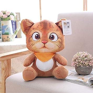CGDX 1 unid 20 cm Mini Lindo Gato de Peluche Juguetes de Peluche Animales de Peluche de Dibujos Animados Gato Muñeca Juguetes para Niños Juguetes Niñas Regalos marrón Claro: Amazon.es: Juguetes y