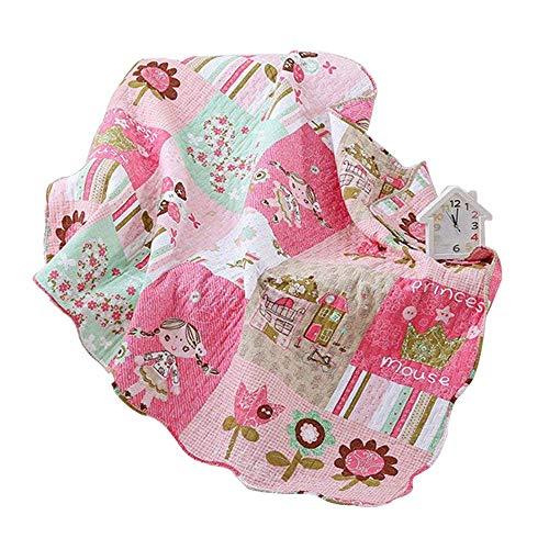 Abreeze Cotton Coverlet Quilt Bedspread Girls Throw Blanket 43' X 51'