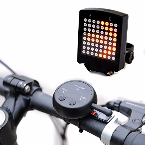 Brake Turn Signal (OUTERDO Bicycle Turn Signals 64 LED Waterproof Intelligent Wireless Remote Bicycle Rear Tail Light Bike Turn Signals Safety Warning)
