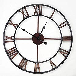 Handmade Oversized 3D retro rustic decorative luxury art vintage large wall clock on the wall for gift Wall clock/A