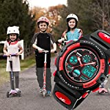 Kids Digital Watch Age 5-15, Red Watches for Girls