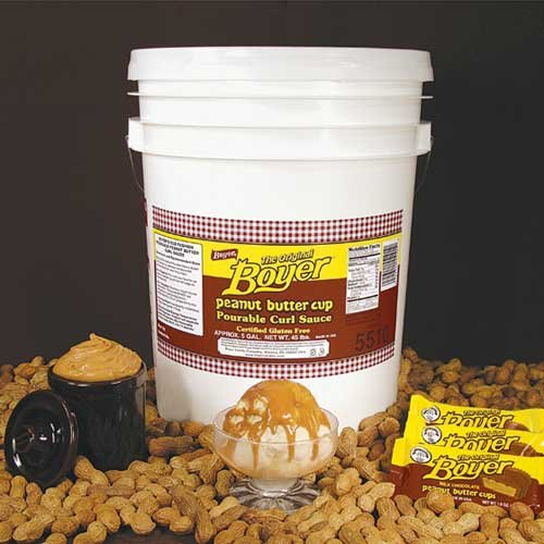 Peanut Butter Curl Sauce, 5 Gallon, 45 Pound -- 1 each.