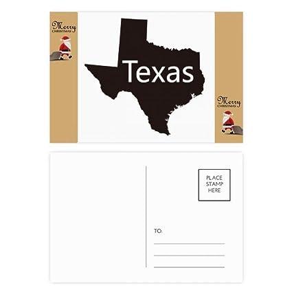 Texas America USA silueta de mapa de Santa Claus regalo ...