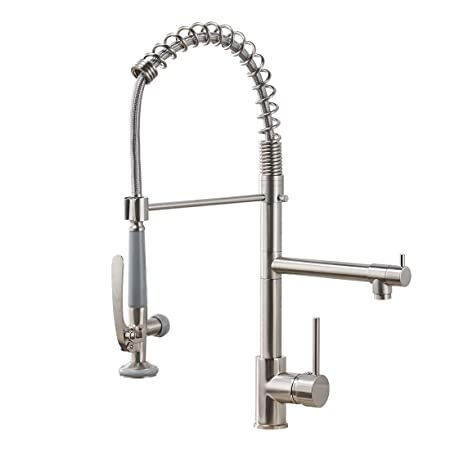 Fapully Commercial Pull Down Kitchen Sink Faucet Reviews