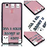 Huawei P9 Lite Case, Ngift [Cat] [2 in 1] [Scratch Resistant Anti-fall] fashion Soft TPU Shockproof Case Cover for Huawei P9 Lite