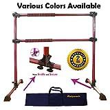 PreGymnastic Updated 4 Ft Adjustable & Portable Double Freestanding...