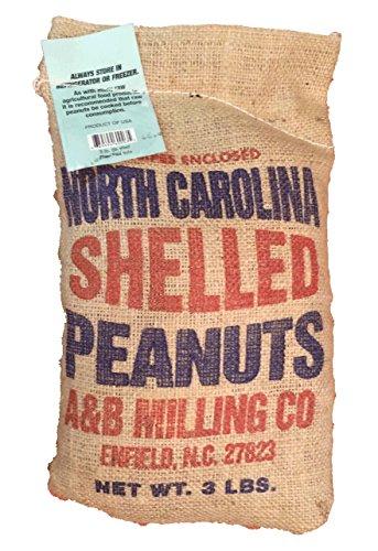 Large Shelled Raw Peanuts 3 Lb Burlap Bag (Peanuts Raw Shelled)