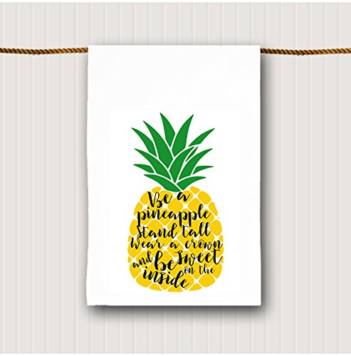 Be a Pineapple Tea Towel Inspirational Bathroom Hand Towel