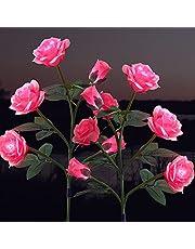 Solar Powered Garden Stake Rose Lights,Floridliving Outdoor LED Solar 5 Rose Flower Light, Waterproof Decoration Lights for Patio,Garden,Backyard