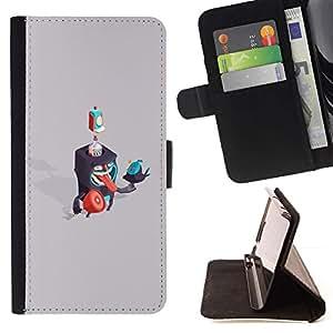 Momo Phone Case / Flip Funda de Cuero Case Cover - Criaturas Abstract;;;;;;;; - Samsung Galaxy J1 J100