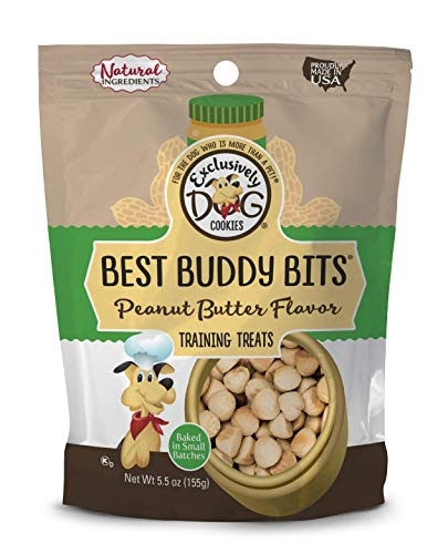 Bits Peanut Butter - Exclusively Pet Best Buddy Bits-Peanut Butter Flavor, 5-1/2-Ounce Package
