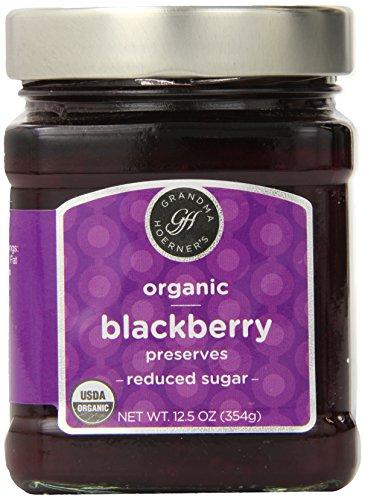 Grandma Hoerner's Organic Blackberry Preserves, Reduced Sugar, 12.5