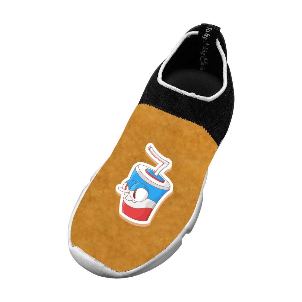 Us Big Kid Sports Flywire Weaving Sneakers for Unisex Children Print Cartoon Drinks 4 B M