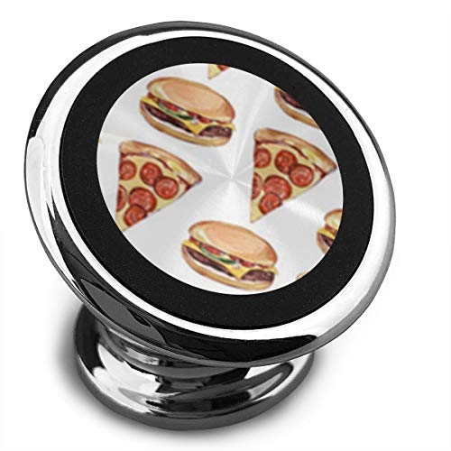 FISHISOK Magnetic Car Phone Mount Holder Pizza N Hamburger Deluxe Car Mobile Bracket 360 Degrees Rotation from Dashboard Compatible with iPhone Samsung,etc