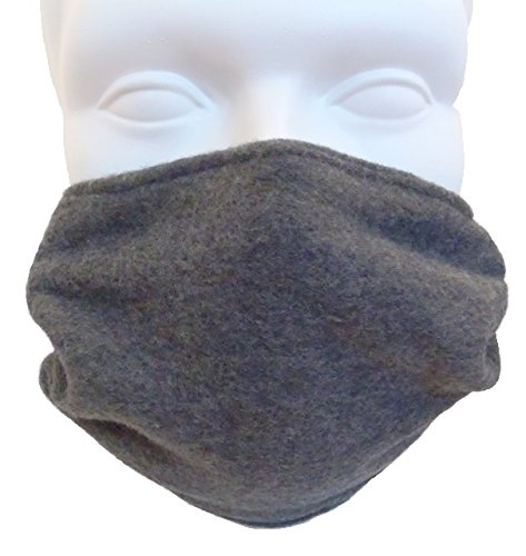 (Double Layer Fleece Face Mask; Cold Weather COPD - Charcoal Gray)