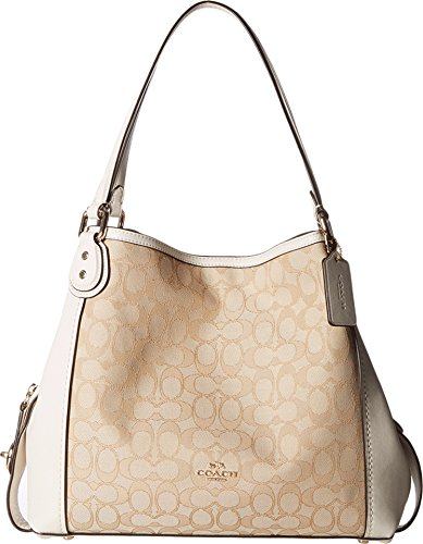 - COACH Women's Signature Edie 31 Shoulder Bag Li/Light Khaki/Chalk One Size