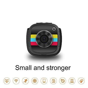 POIIUYY WiFi Mini cámara IP con Sensor de Movimiento 720P Mini videocámara HD Vision Nocturna para