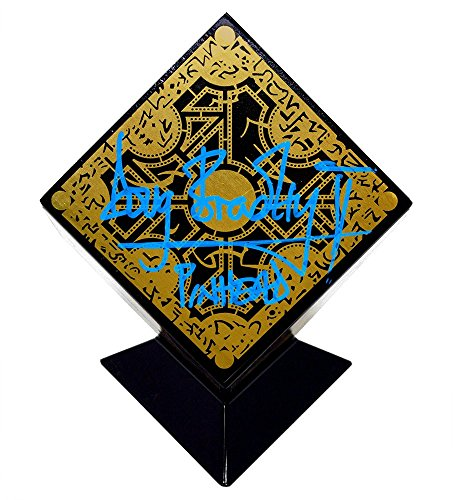 Doug Bradley Pinhead Autographed Hellraiser Puzzle Box with Display Stand (Hellraiser Autographed Poster)