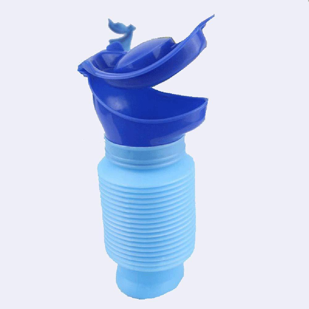 Viajes Urinarios Portátiles Hombres y Mujeres Niños Emergencia Retráctil Urinario Coche Urinario (Azul) 1 PC Beito