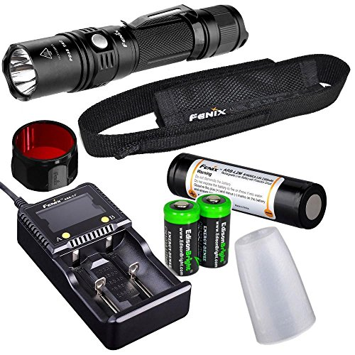 Tactical Flashlight rechargeable EdisonBright batteries product image