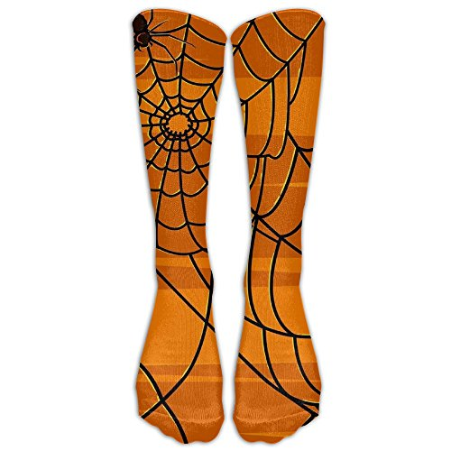 College Station Halloween Activities - Halloween Spider Webs Unisex Knee High Athletic Soccer Tube Sock, Over The Calf Athletic Socks